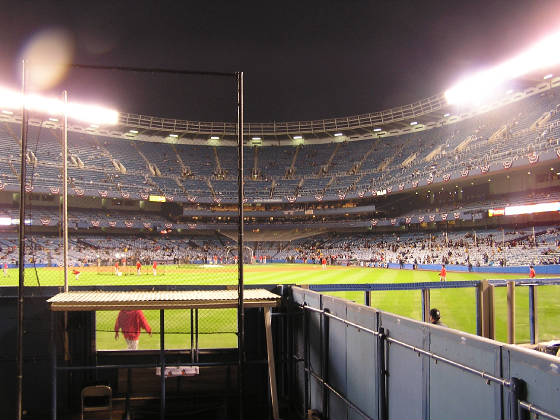 A view from Center Field of Yankee Stadium