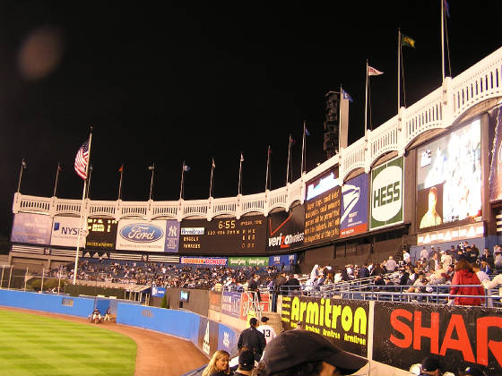 The Outfield from Right Field - Yankee Stadium